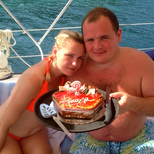 Russians enjoy a Birthday Day Charter