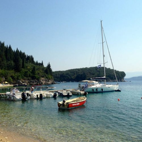 Anchored for lunch, Toulas Taverna