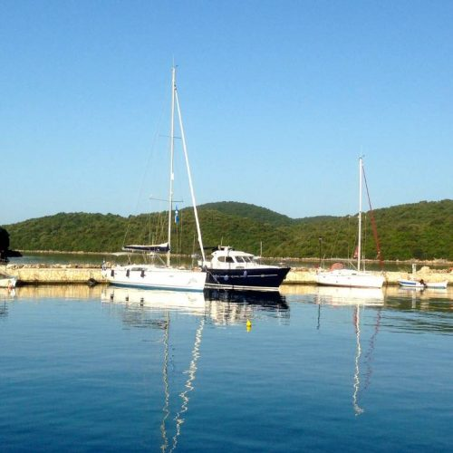 Icarus moored in Mourtos
