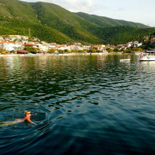 An evening swim