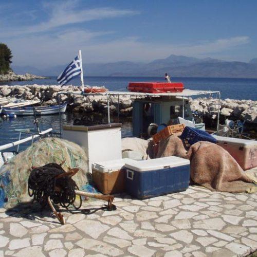 Kassiopi harbour
